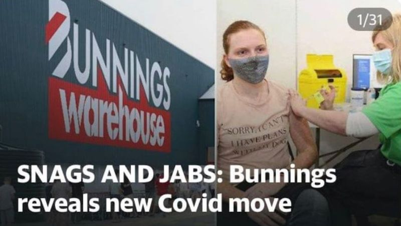 Snags and Jabs: Bunnings Reveals New Cov Move